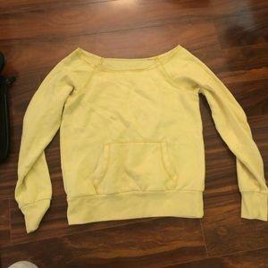 🦊 Victoria's Secret yellow fleece lined pullover